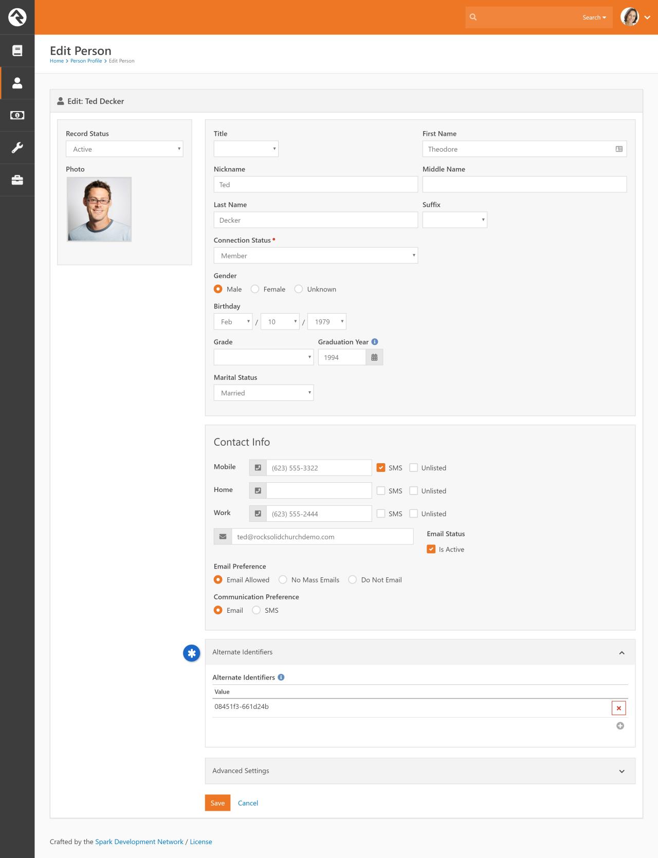 Check-in Identifier Field