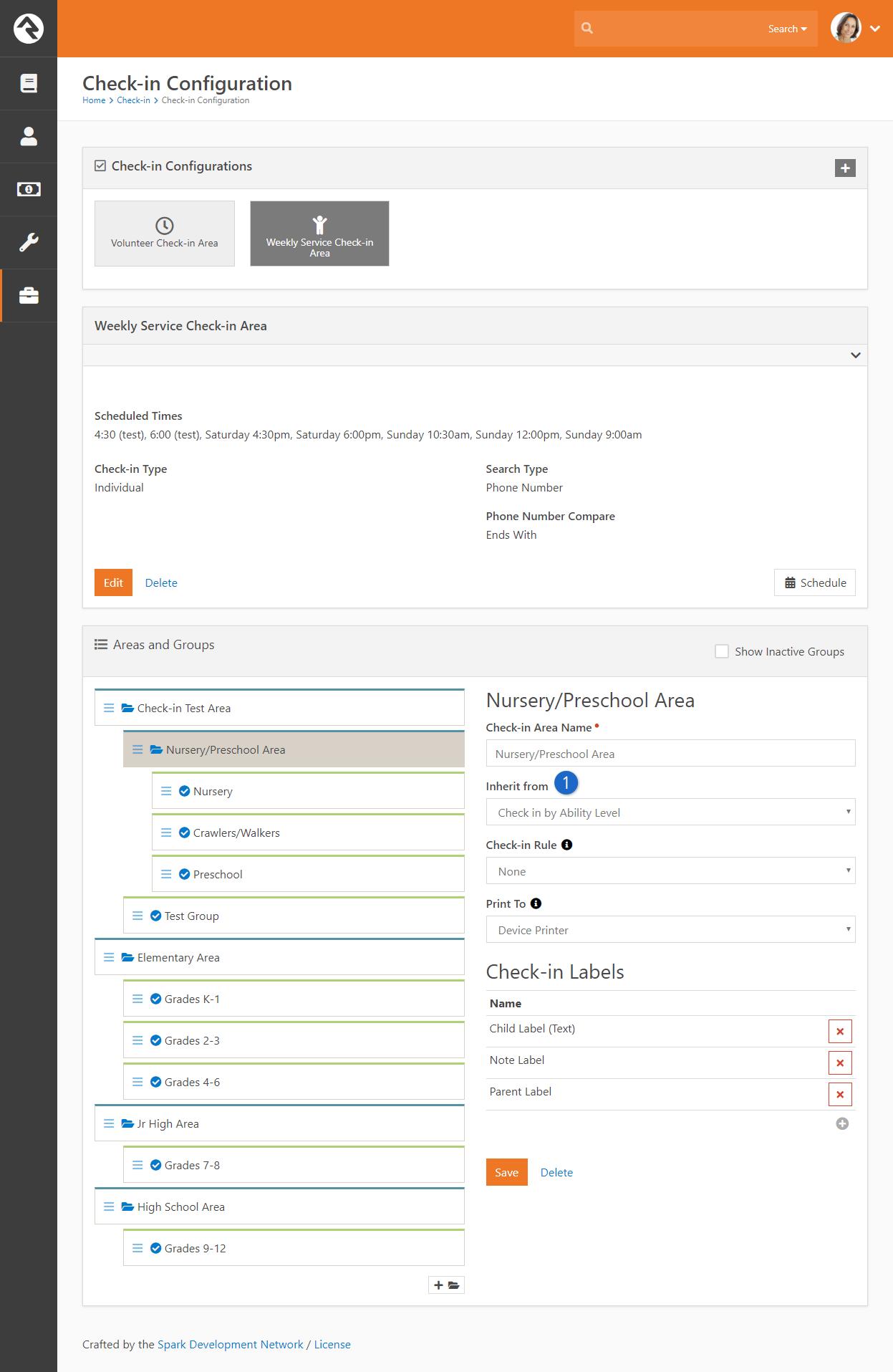 Ability Level Area Configuration
