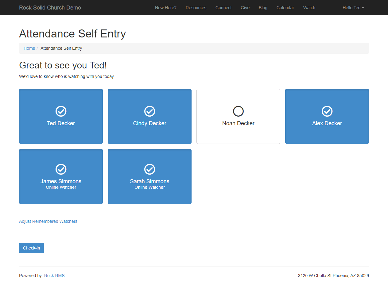 Attendance Self Entry - Known Person