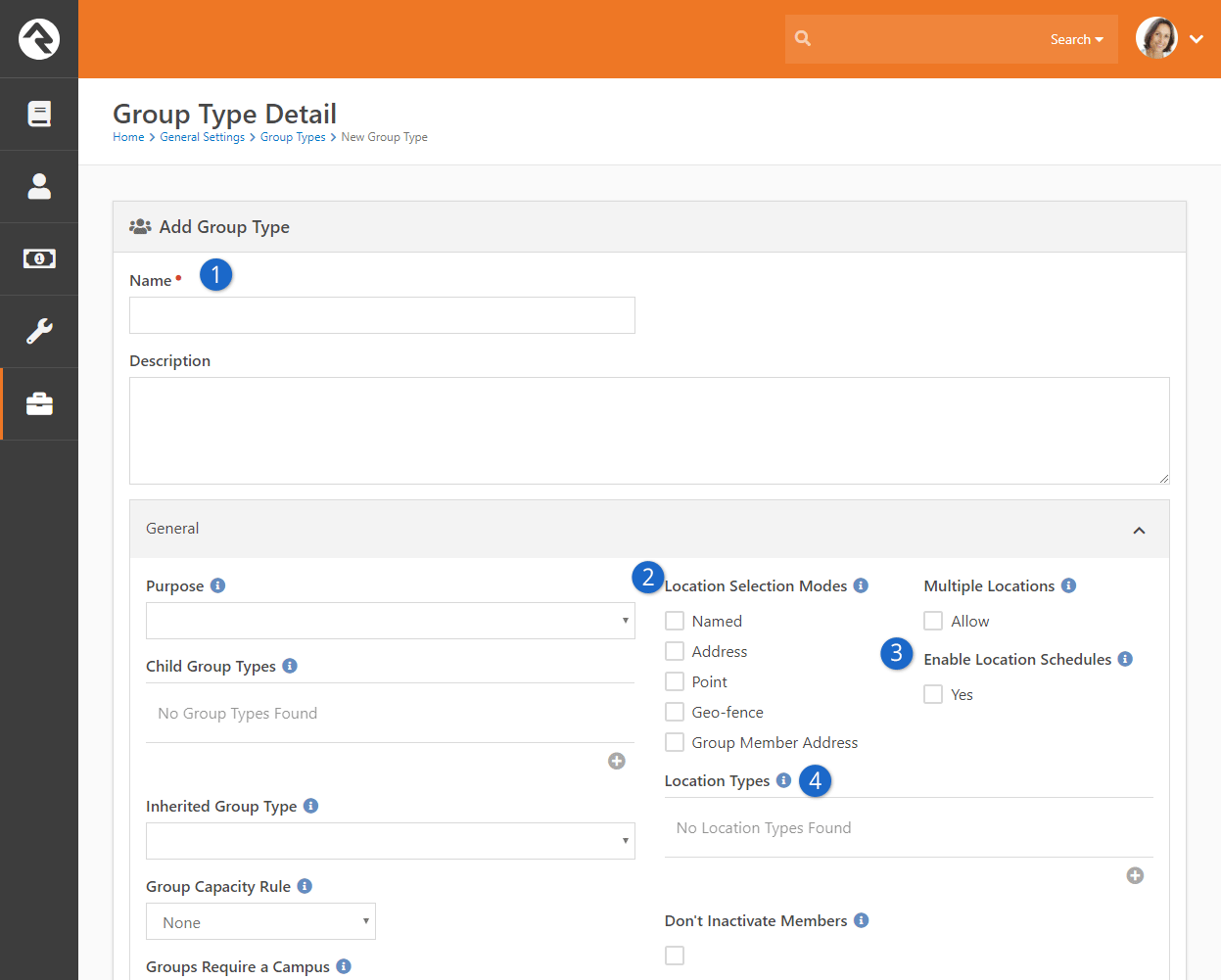 Configuring A New Group Type For Checkin