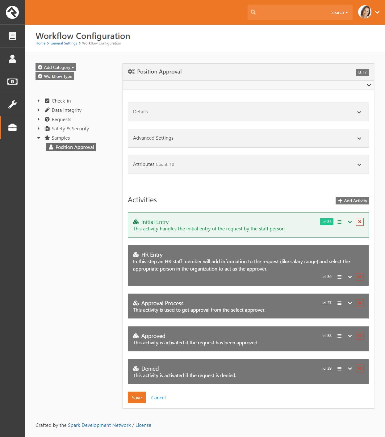 Workflow Type Activities