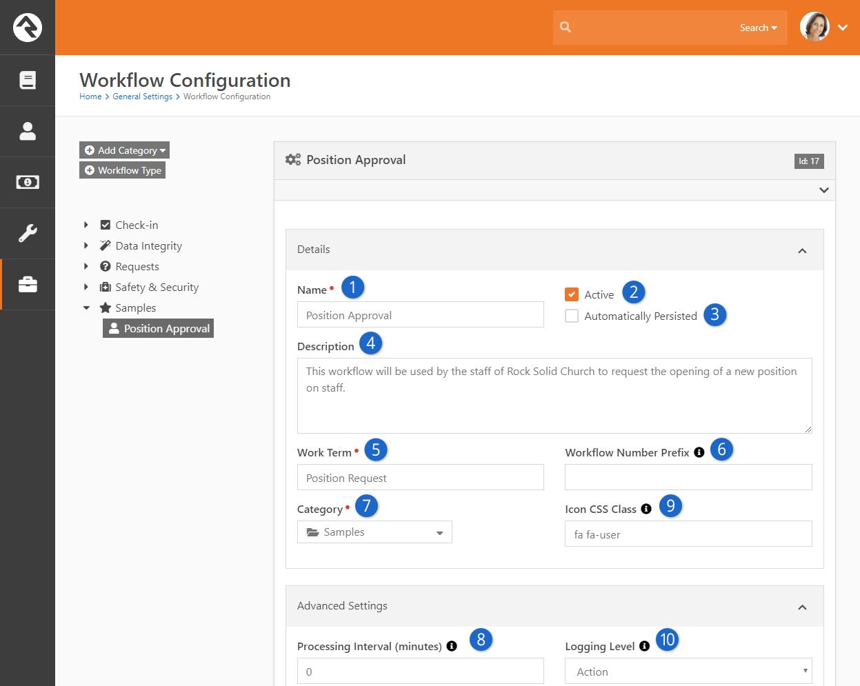 Workflow Type Details