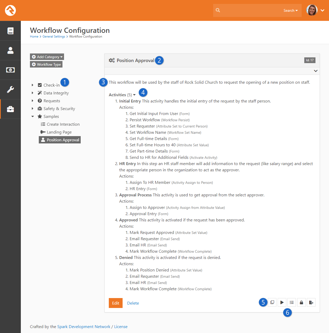Workflow Type View