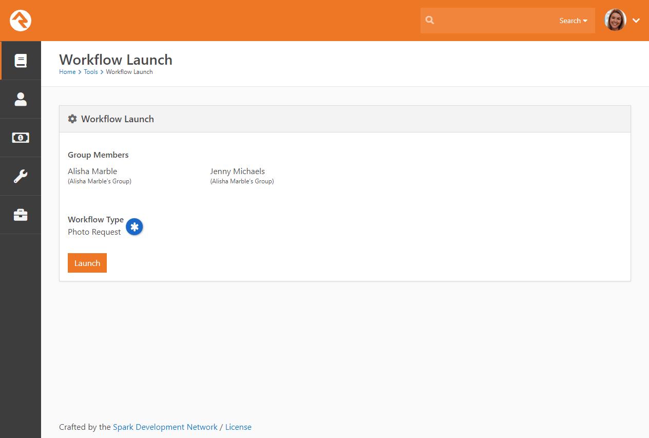 Workflow Launch Block - Locked Workflow Type