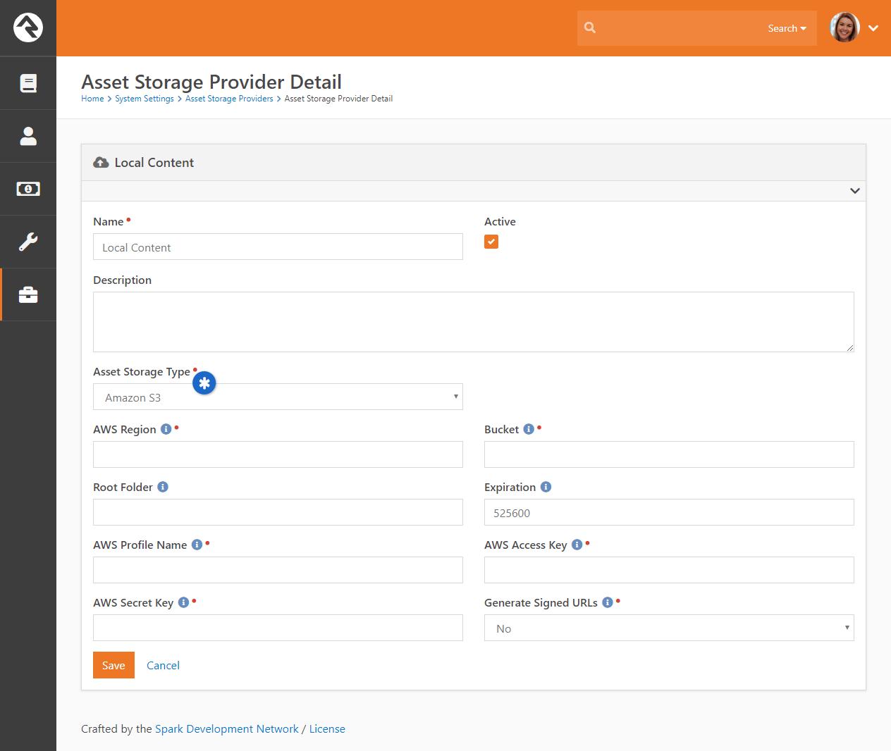 Asset Storage Provider - S3