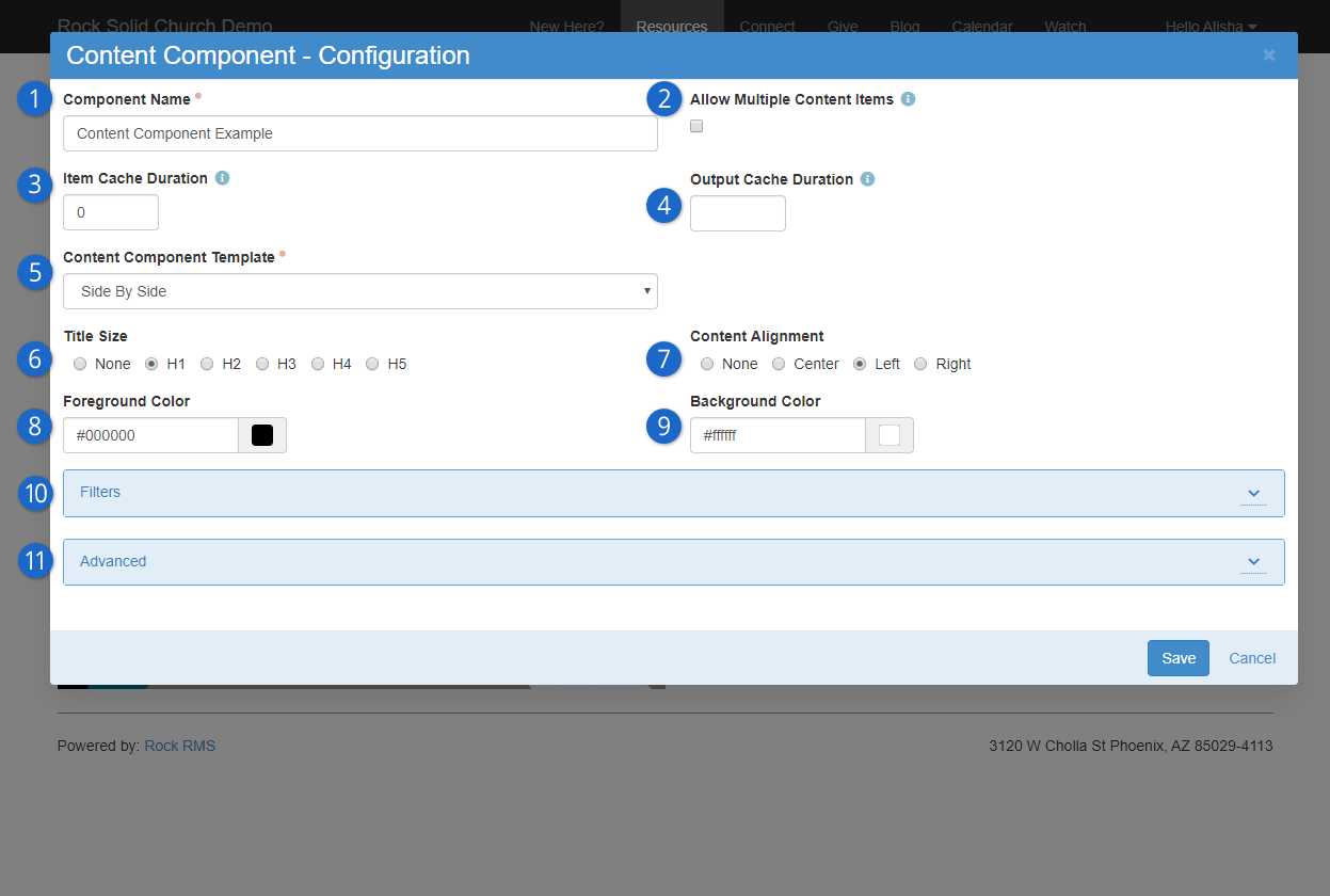 Configuration Page
