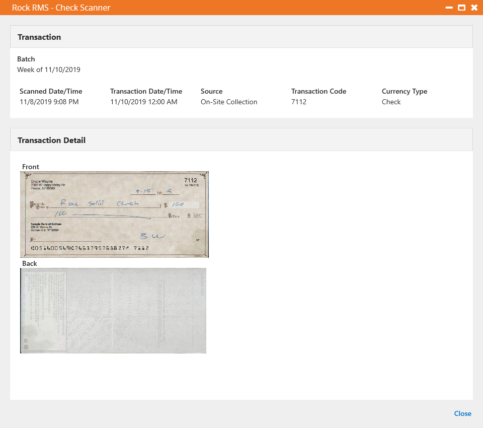 Transaction Details - Capture Disabled