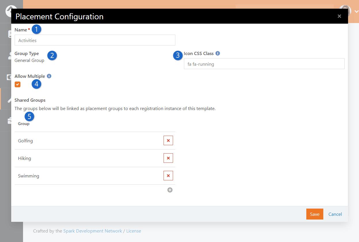 Edit Placement Configuration