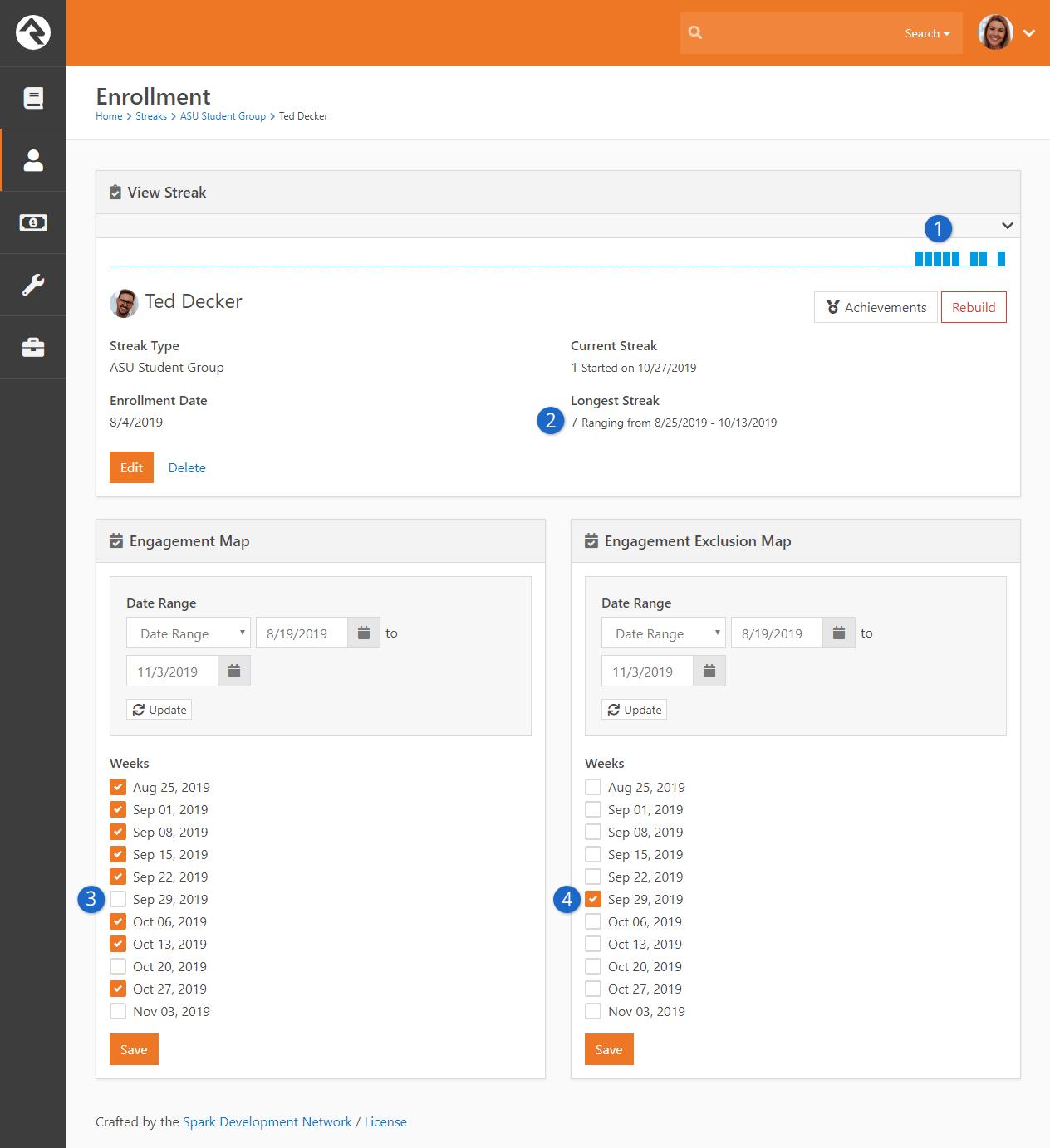 Enrollment Detail Page - Exclusion