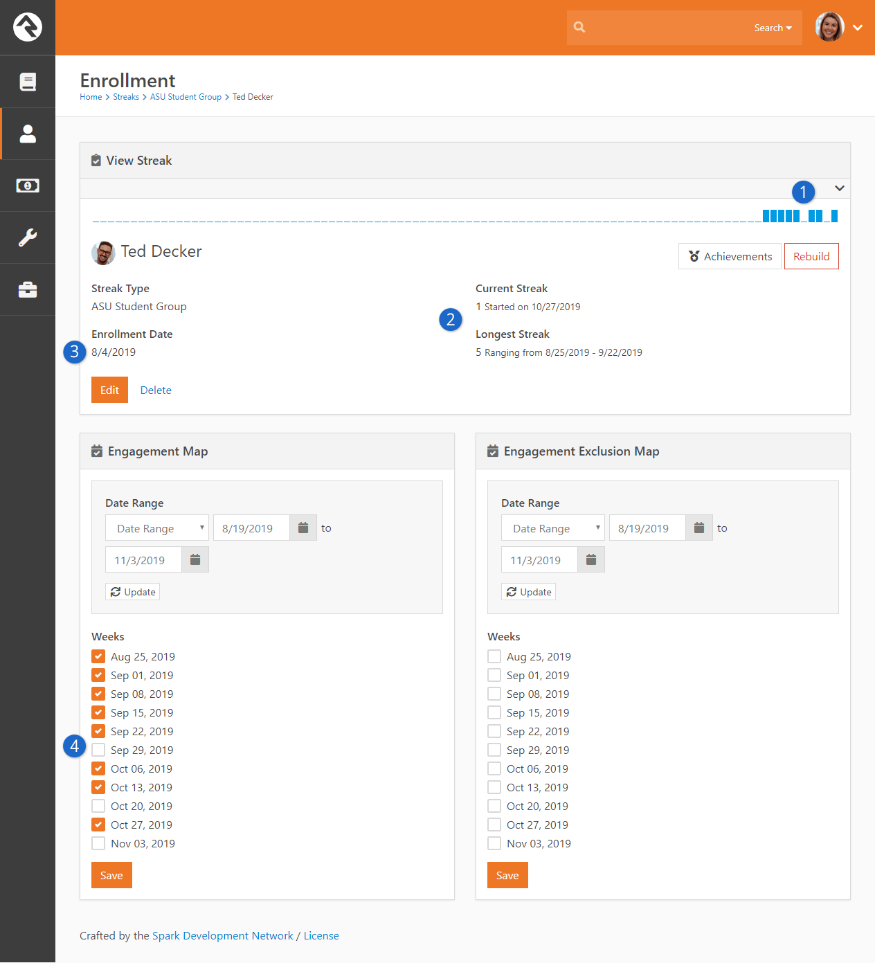 Enrollment Detail Page - Rebuild