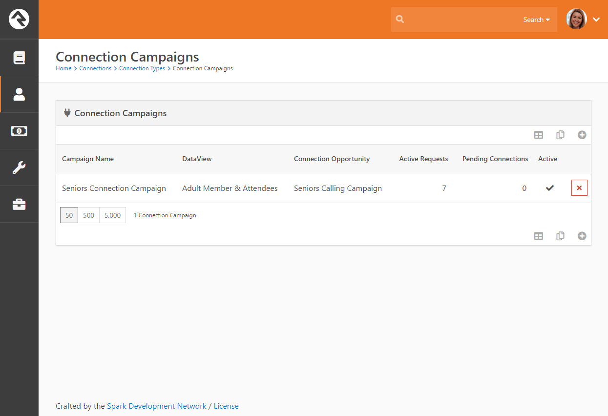 Connection Campaign List