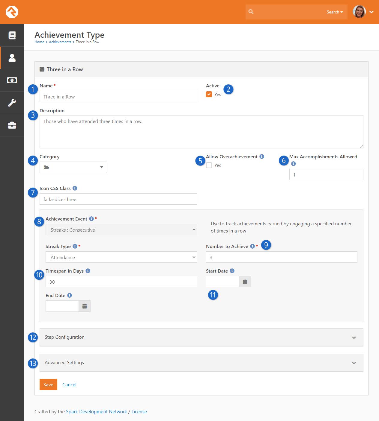 Add Achievement Type