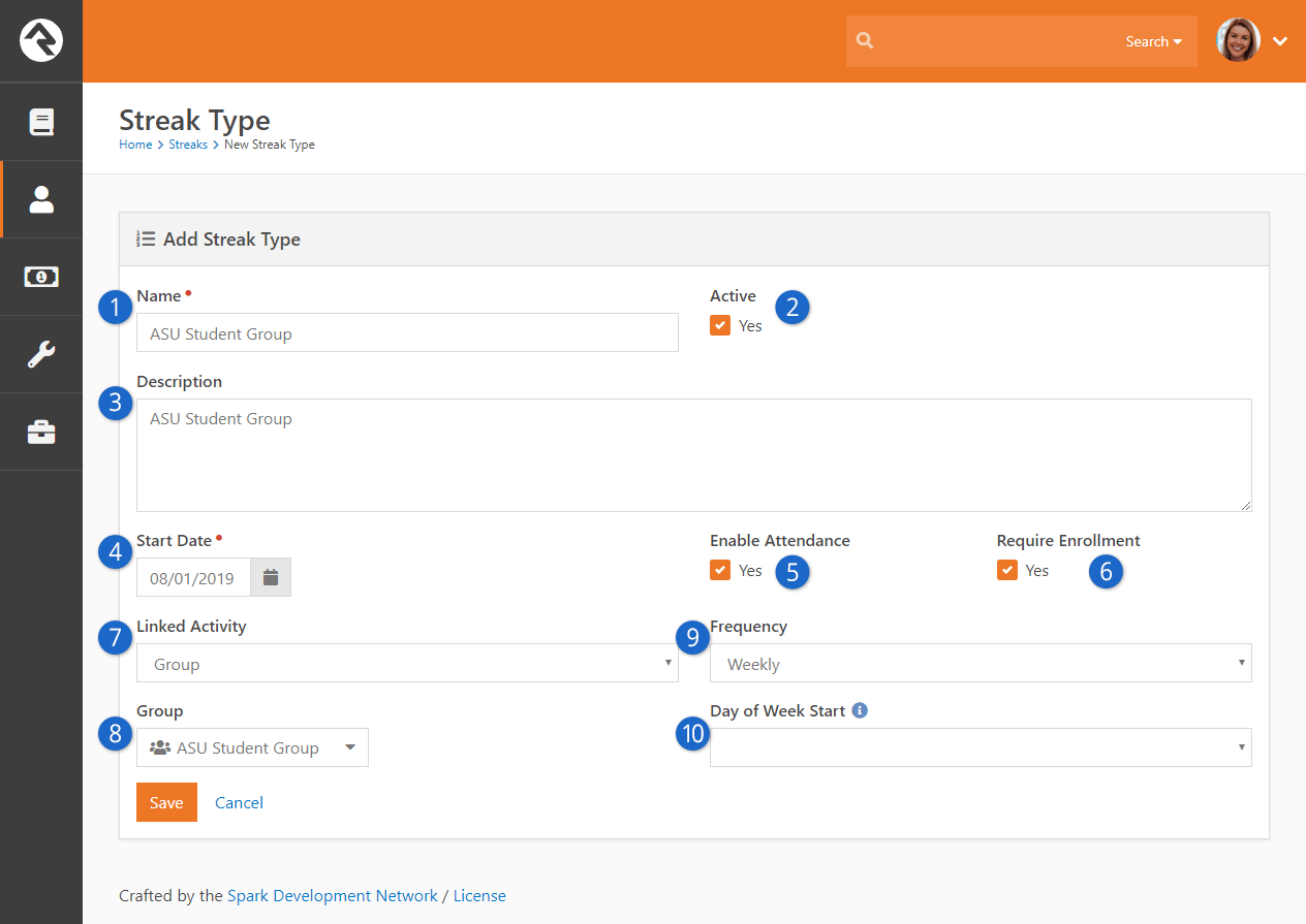 Add New Streak Type