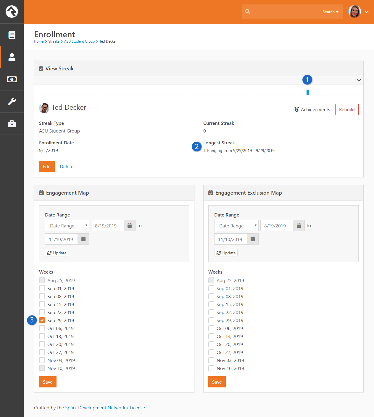 Enrollment Detail Page - Manual