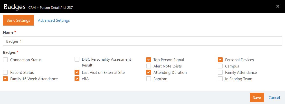 Add Badge To Page