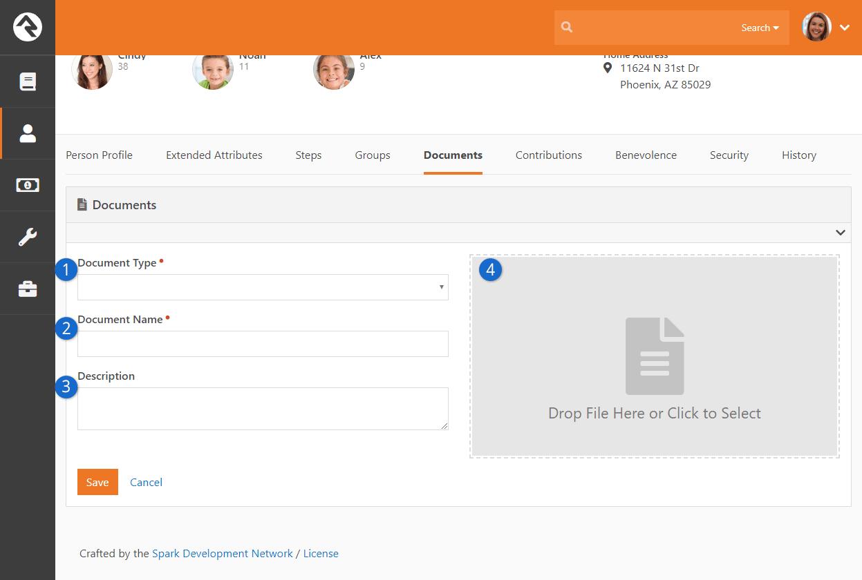 Person Profile Add New Document
