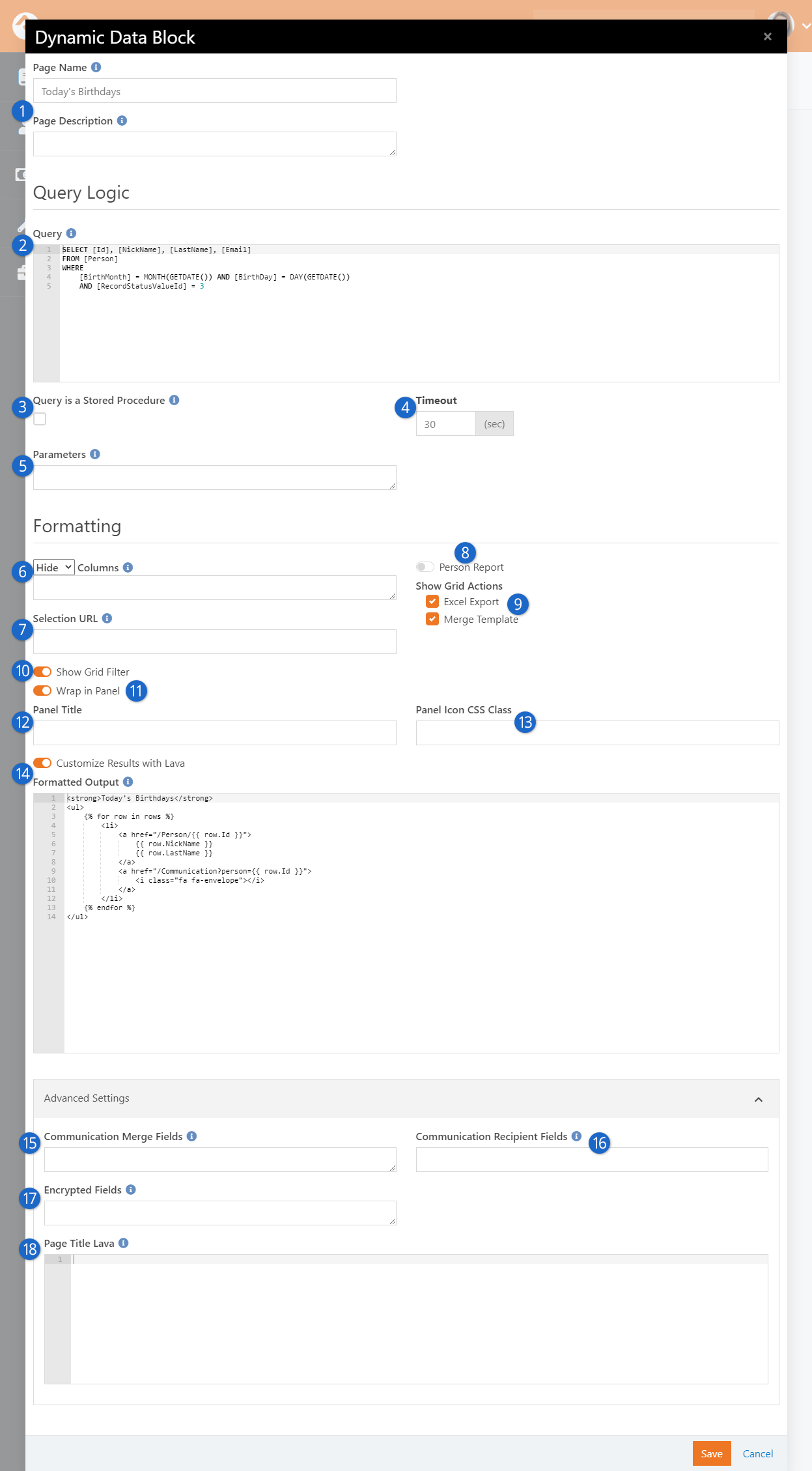 Dynamic Data Block