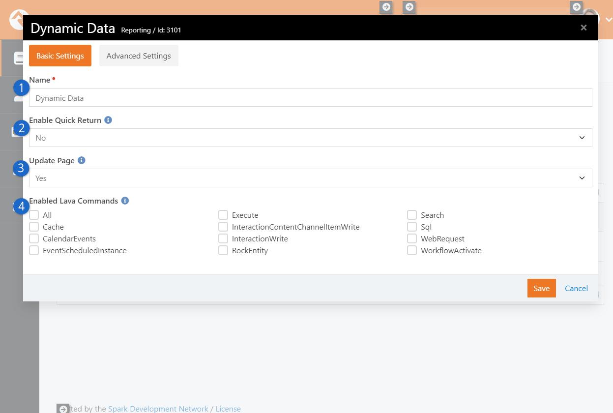 Dynamic Data Block Settings
