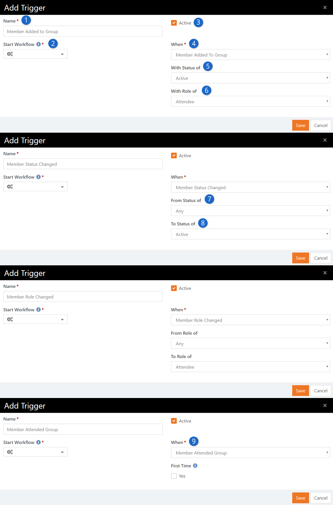 Group Member Workflow Settings