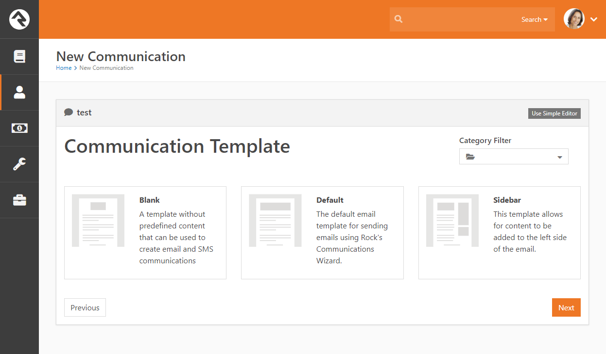 Communication Template