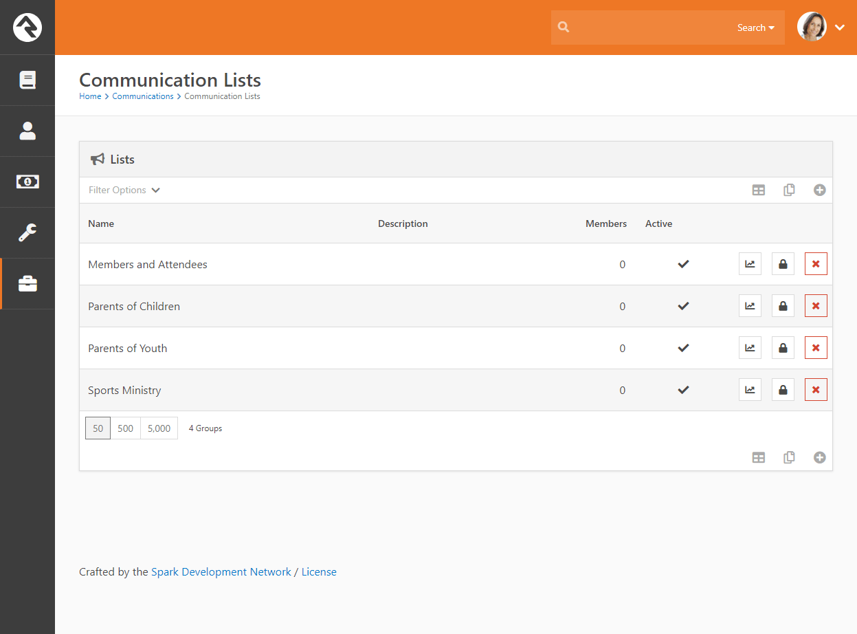 Communication Lists