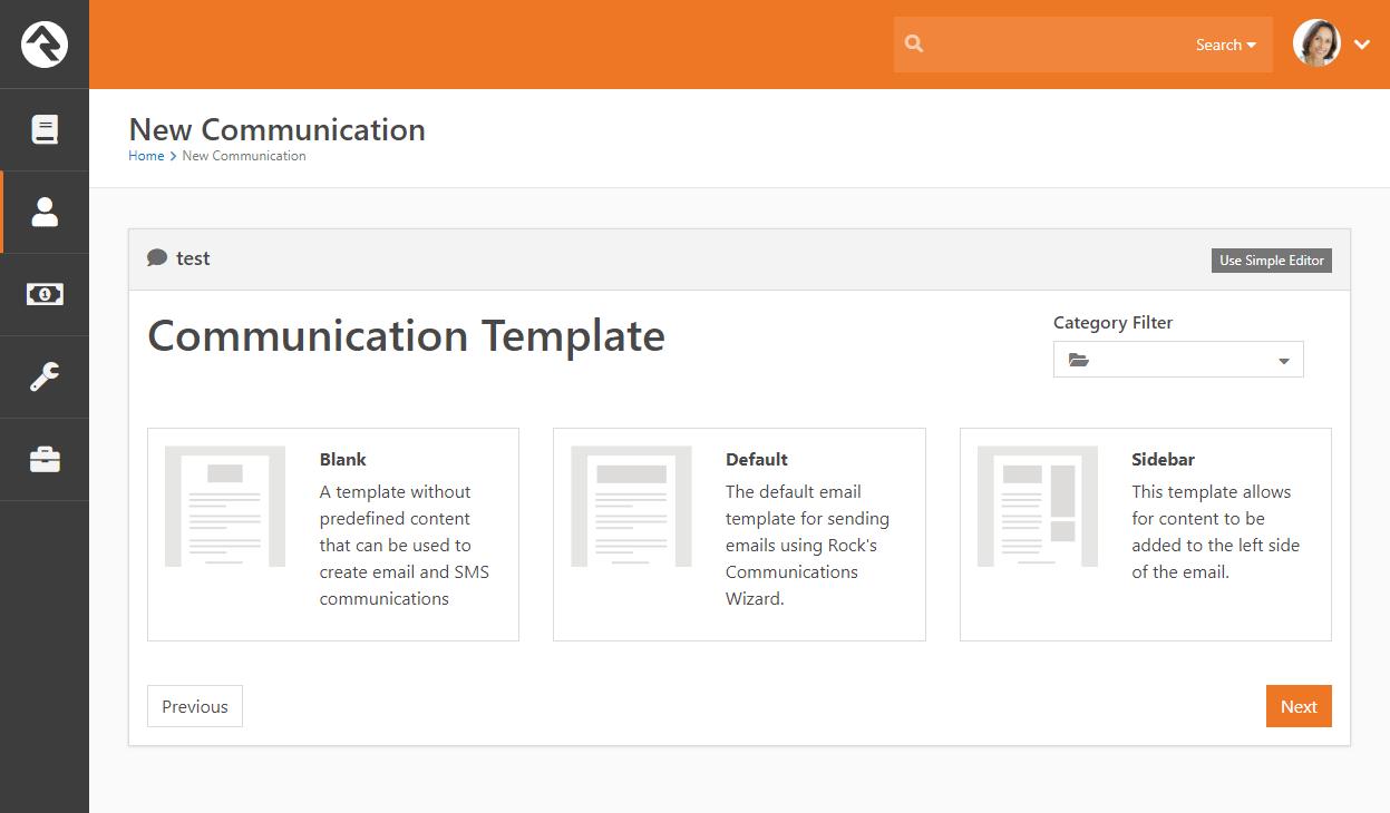 Communication Template