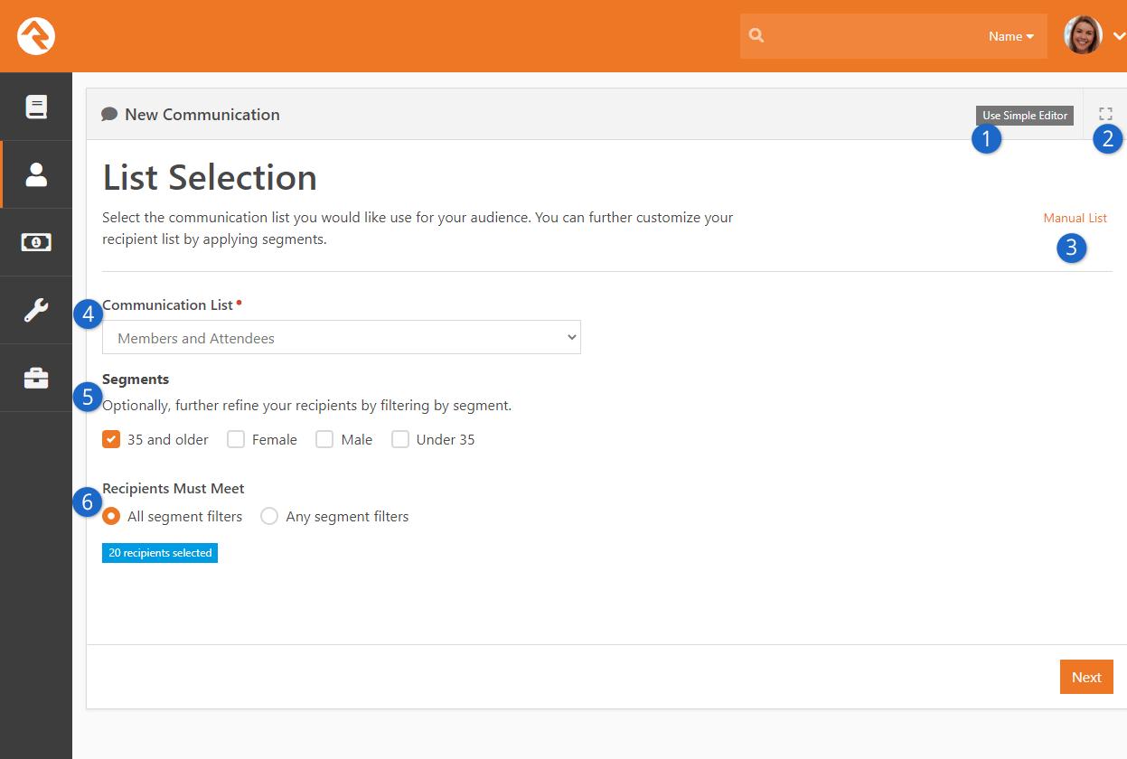 List Selection