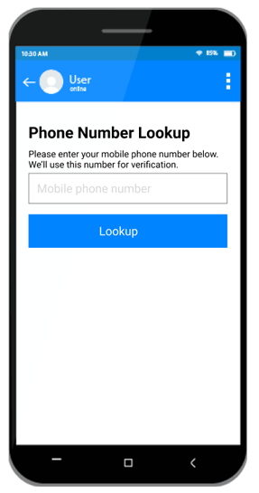 Phone Number Lookup Block