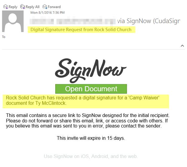 Invite Emails