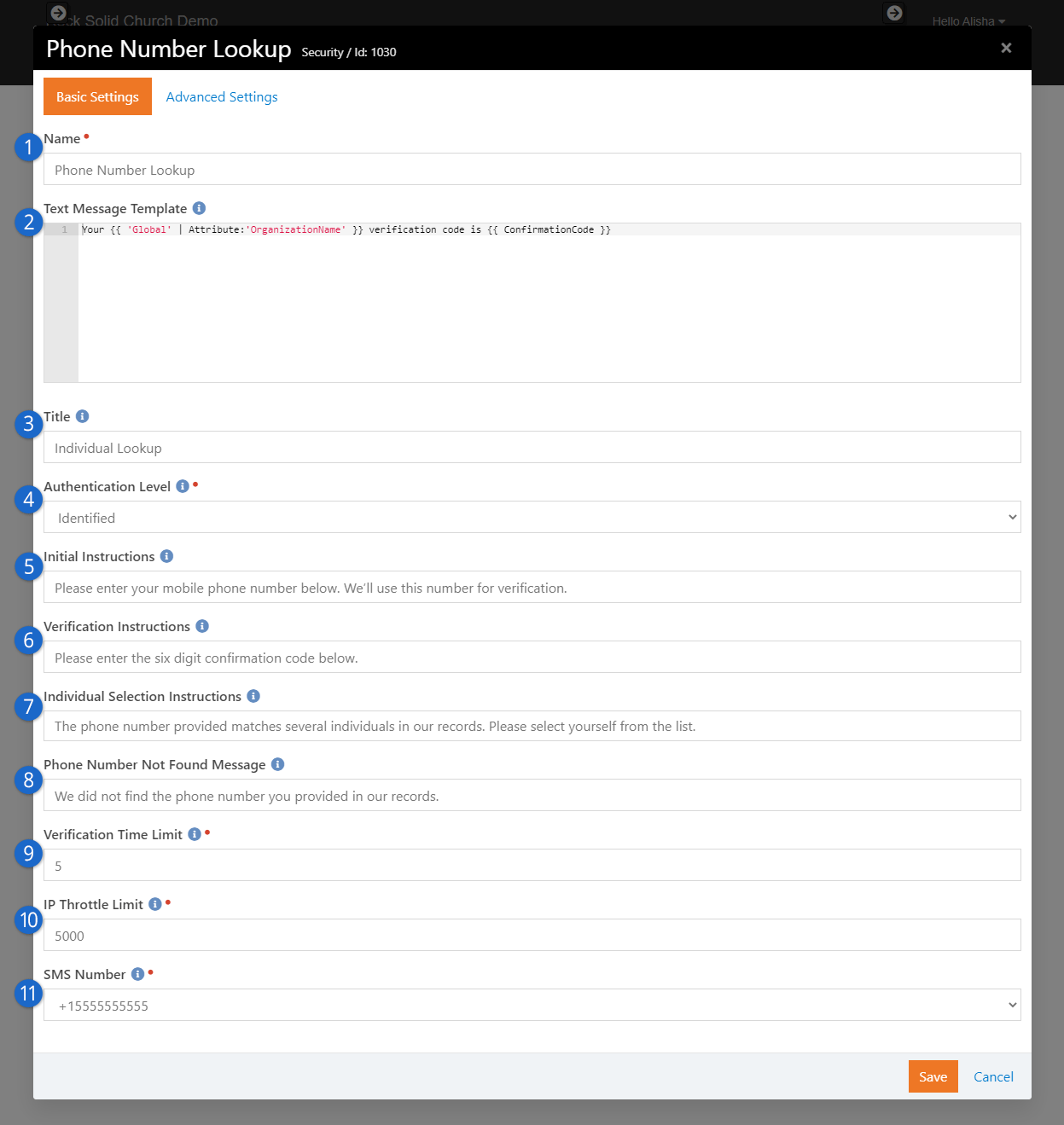 phone-number-lookup-block-settings
