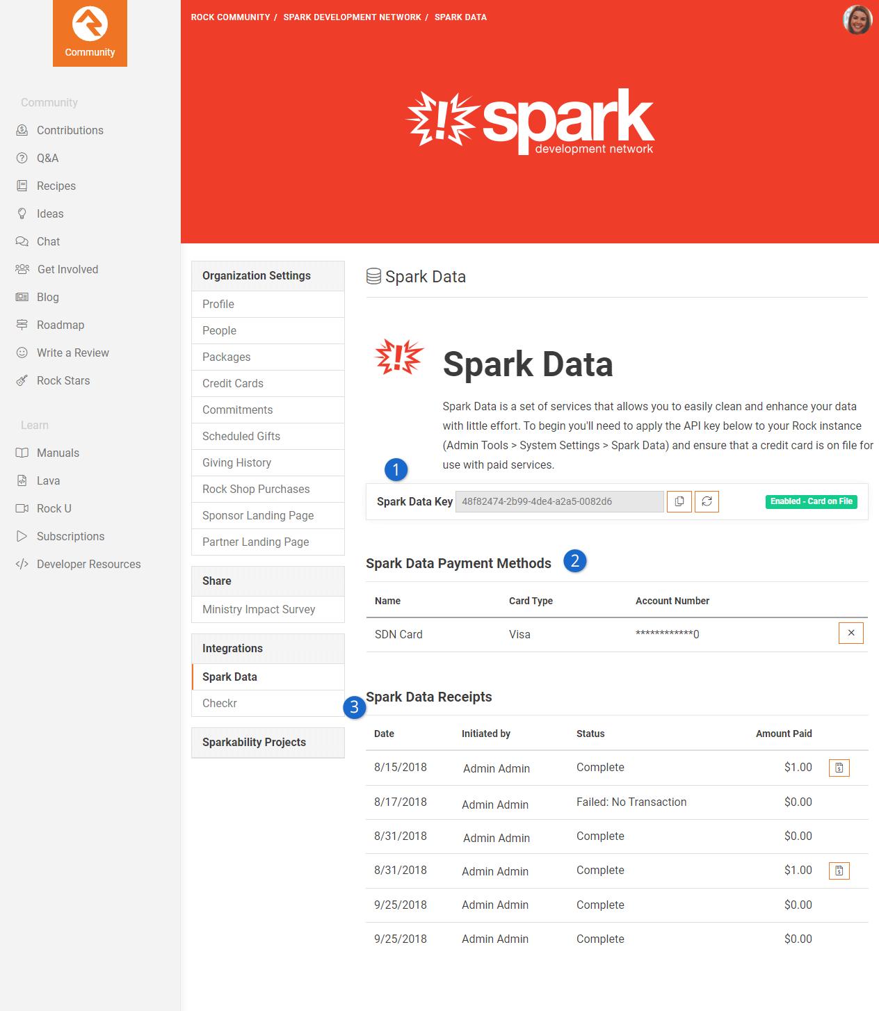 Spark Data Setup