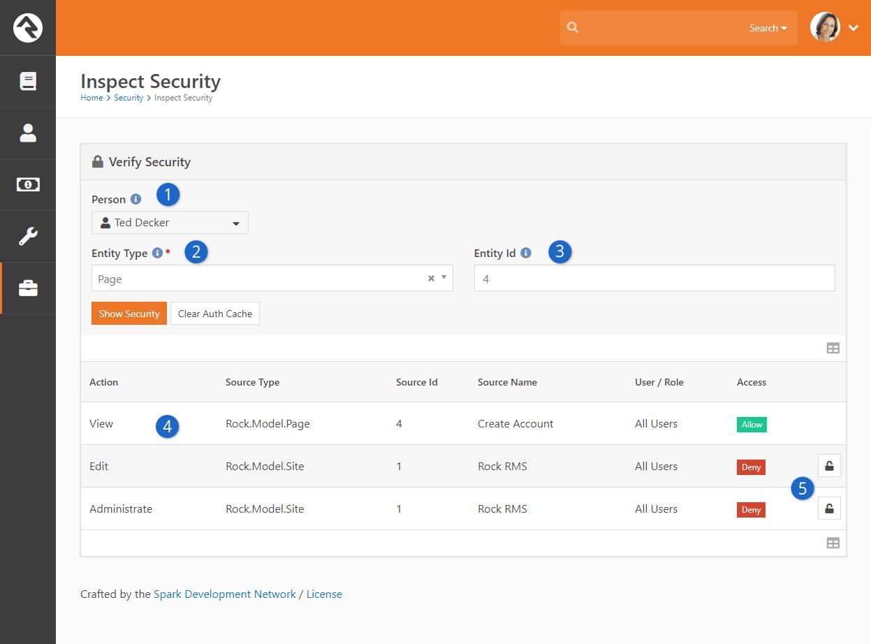 Verify Security Block